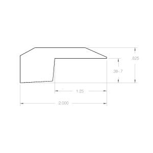 Threshold Molding for Hallmark Hardwoods wood flooring.