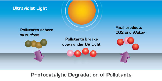 Hallmark Floor's drawing of Drawing of UV Photocatalytic Degradation