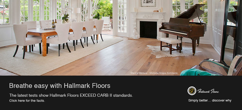 Hallmark Floors is Carb II Compliant