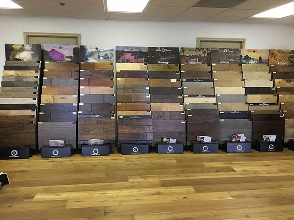 Hallmark Floors display at Wood Flooring inc