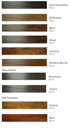 Silverado Color chart range