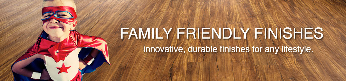 Family friendly finishes for luxury vinyl banner by Hallmark Floors