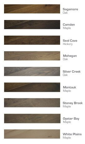 Moderno Hardwood Flooring Collection Color Chart