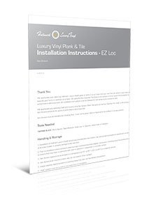 Ez-loc Installation pdf for Polaris Vinyl Floors