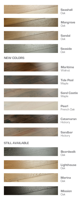 Ventura Hardwood Floors Color Chart by Hallmark Floors