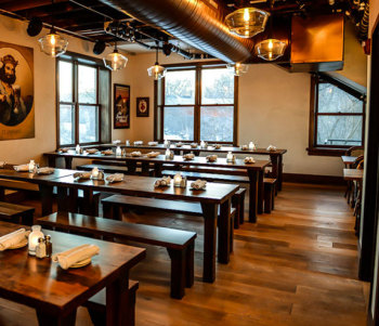 Caf Bavaria In Wauwatosa Which Is An Upend Community On The Edge Of City Alta Vista Commercial Flooring Installed