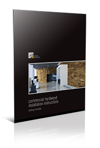 Hallmark Commercial hardwood installation instructions for ceilings & walls