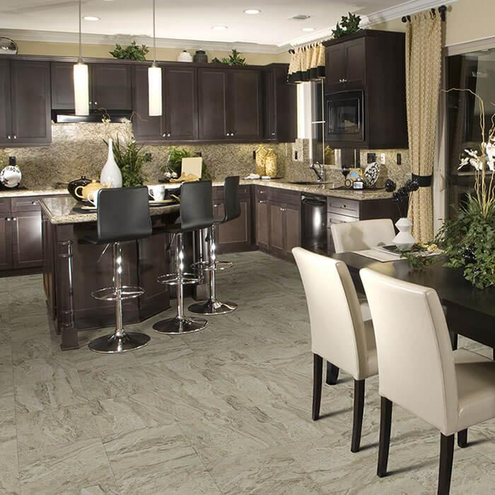 Mandoria, Hermosa Stone Luxury Vinyl Flooring Collection by Hallmark Floors.