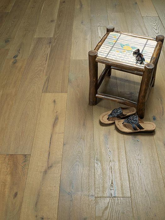 A vignette of Catalina Alta Vista Hardwood Flooring Collection by Hallmark Floors