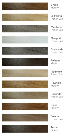 Sierra Madre Color chart Luxury Vinyl Flooring by Hallmark Floors