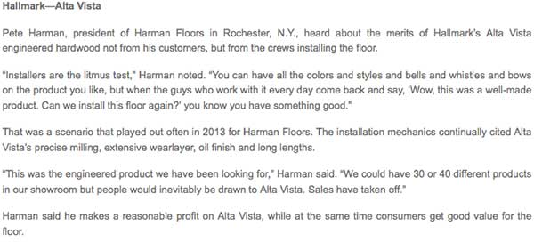 Harman Hardwood Flooring Co. and Hallmark Floors with NRF in Rochester, NY