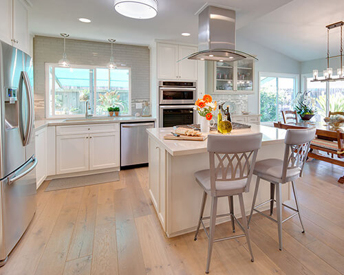 Alta Vista Del Mar Kitchen renovation by Karen Cole Designs. Hallmark Floors Awarded Best Of Houzz 2016