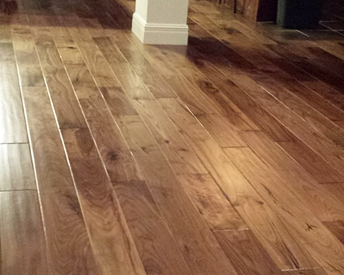 Heirloom Natural Walnut installation in Shawnee KS