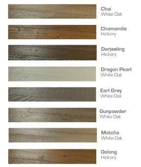 Organic Engineered 567 Color Chart