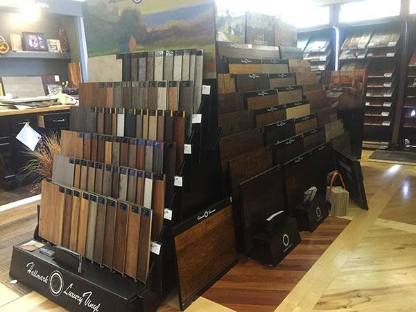 Hallmark Floors Display inside Peterwoods Showroom