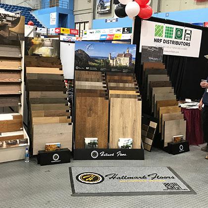 Hallmark Floors at the Hammond Lumber trade show at Augusta Maine Civic Center
