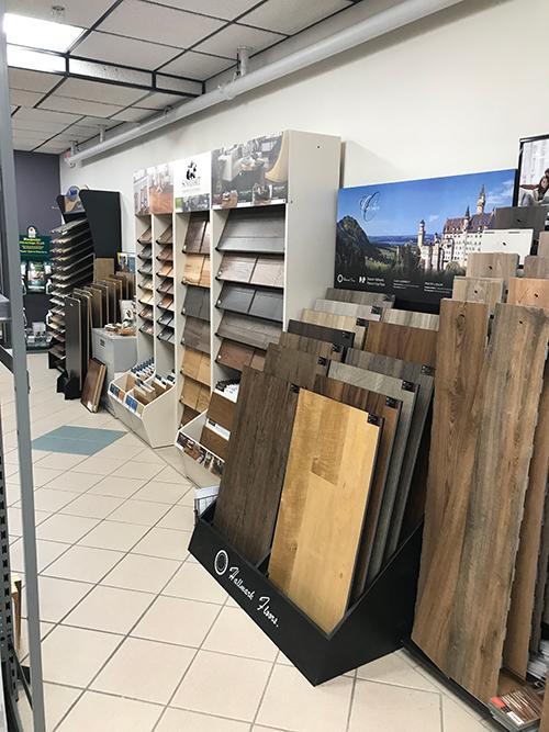 Hammond Belgrade showroom featuring Hallmark Floors waterproof flooring