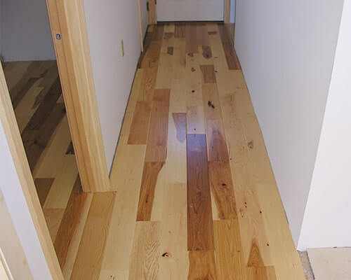 Heirloom Natural Walnut Hallway installation