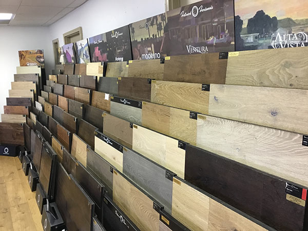 Hallmark Floors display at Wood Flooring inc