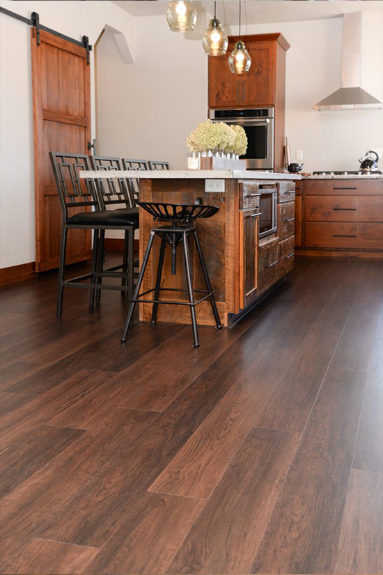 Hallmark Floors Courtier Waterproof Flooring Margrave Teak installation by HJ Martin and Son