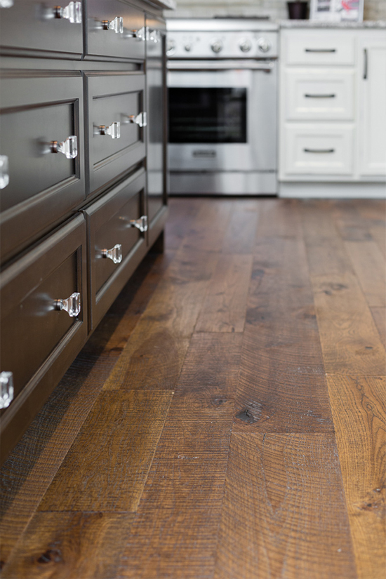 Hallmark Floors Organic 567 Oolong Hickory installation by HJ Martin and Son
