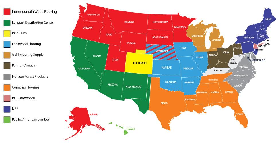 Hallmark Floors Distributors Map Locations Hallmark