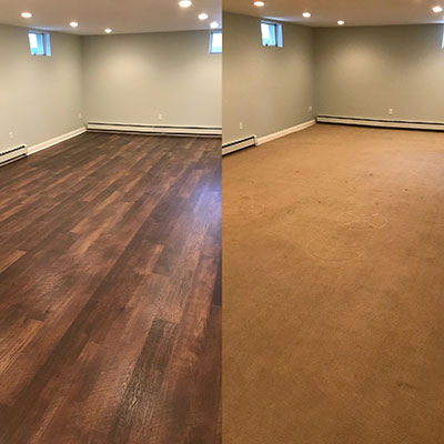 B & D House of Carpet Courtier Baroness installation