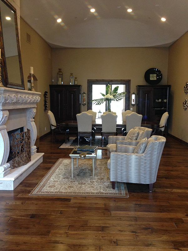 Excalibur living room installation with Hallmark Floors hardwood