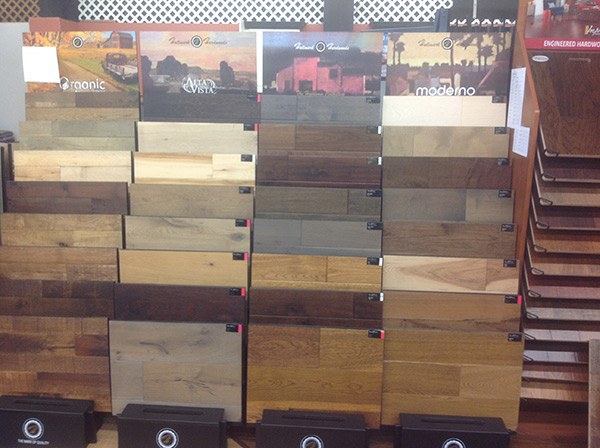Hallmark Floors displays at Flooring Gallery Pinehurst