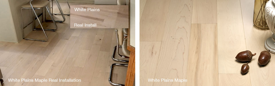 Moderno Hardwood Flooring Grain, Color Shade Variance Photo Reference for Maple White Plains