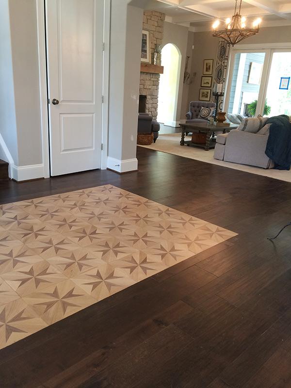 Falcone custom homes Mtnerey Caballero install Howdyshell Flooring Inc in Midlothian, VA. They are a Spotlight Dealer for Hallmark Floors