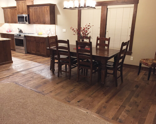 organic solid tulsi dining room installation