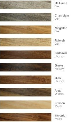 Polaris Premium Vinyl Plank Flooring Color Chart | Premium Vinyl Plank by Hallmark Floors