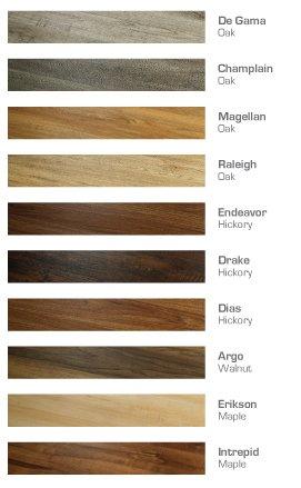 Polaris color chart Premium Vinyl Plank