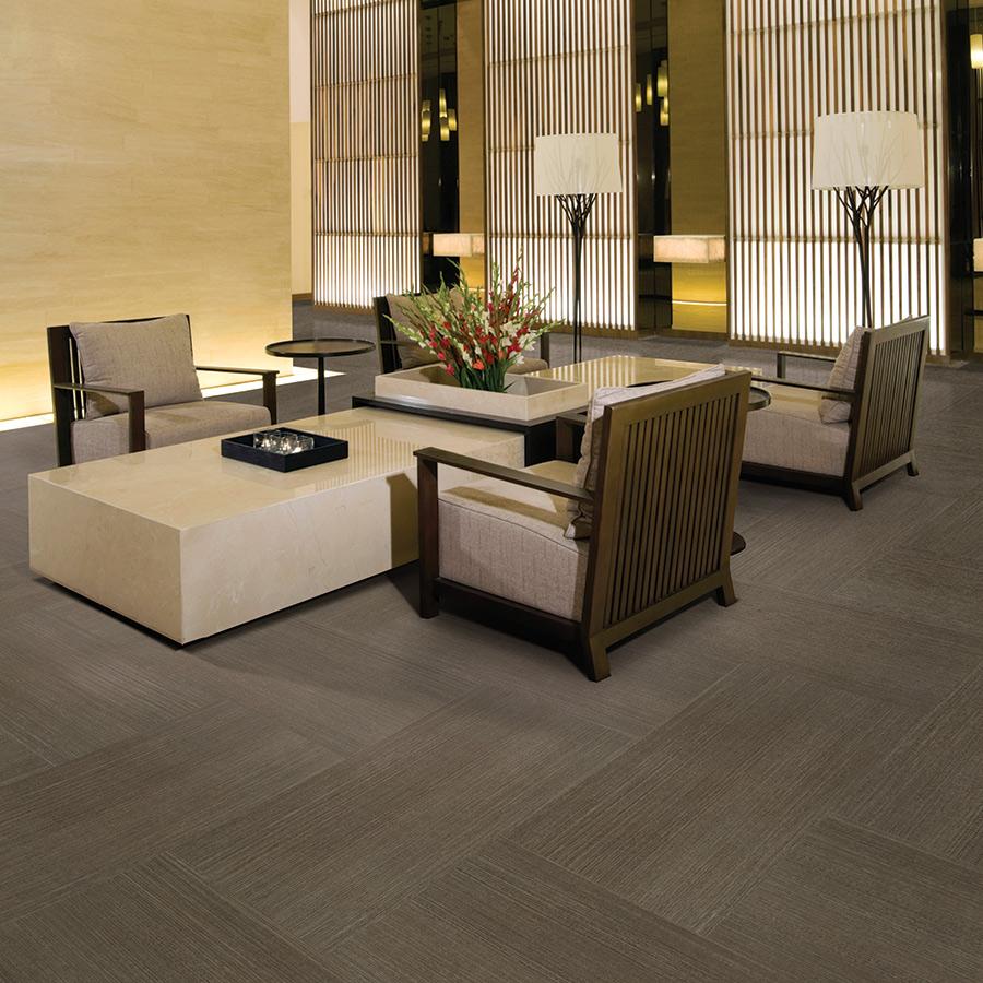 Wall Street Lineal Concrete Herringbone Room Scene