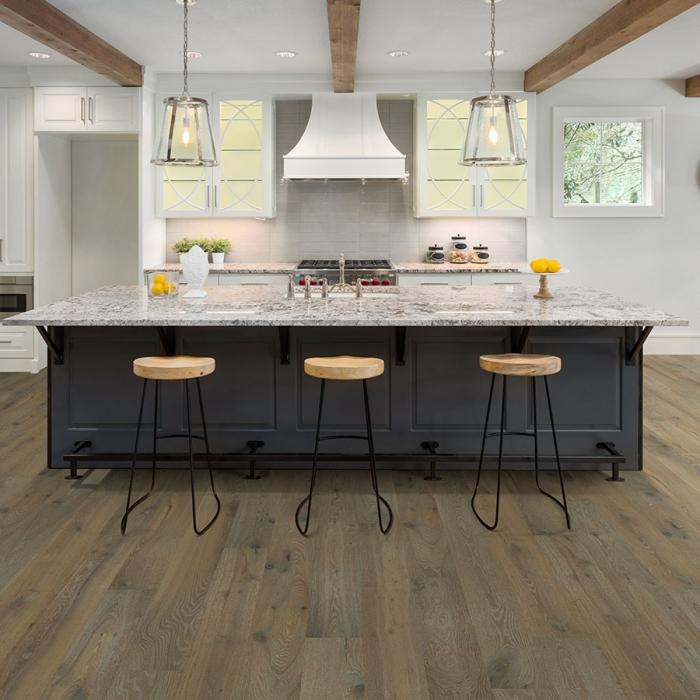 Pismo, Oak hardwood flooring in a kitchen by Hallmark Floors. Alta Vista hardwood Collection.