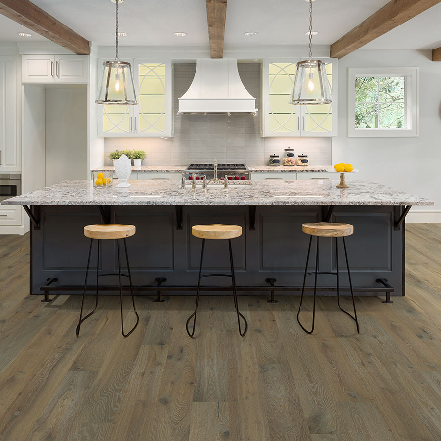 Pismo, Oak hardwood flooring in a kitchen by Hallmark Floors. Alta Vista hardwood Collection.