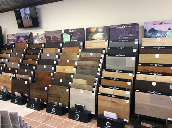 Mercury Carpet and Flooring-Hardwood flooring display