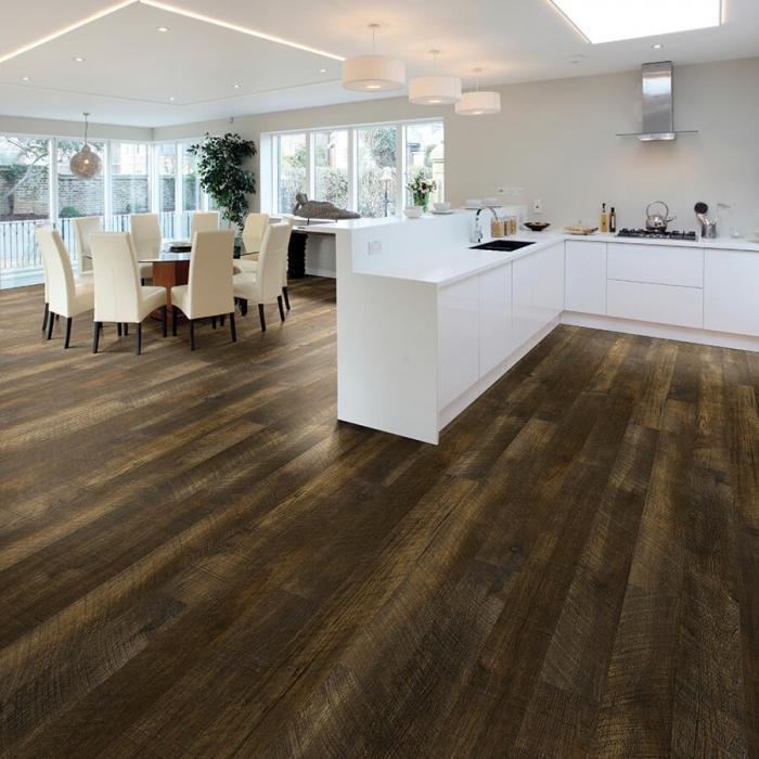 Product Courtier Baroness Hickory Kitchen installation by Hallmark Floors