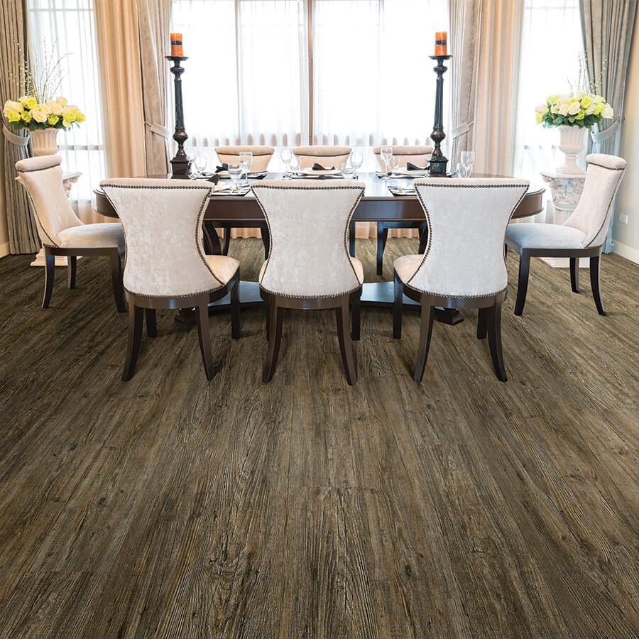 Product Courtier Chevalier Pine Dining Room Installation by Hallmark Floors