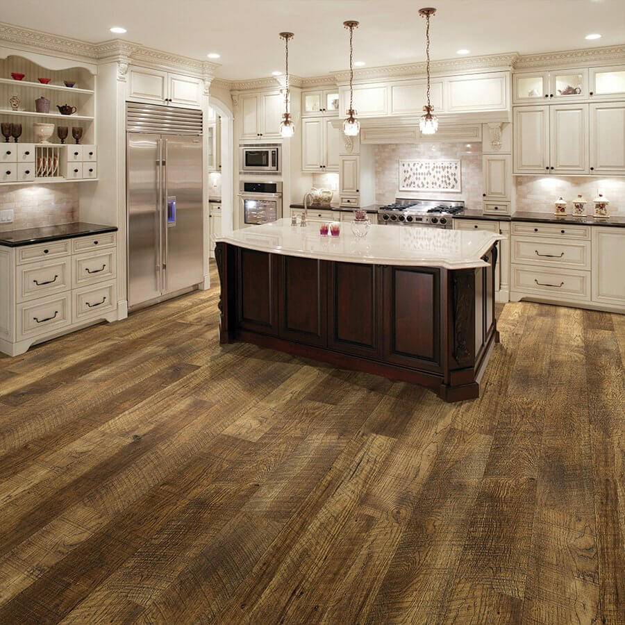 Courtier Premium Vinyl Plank Flooring Monarch, Hickory | Rigid Flooring