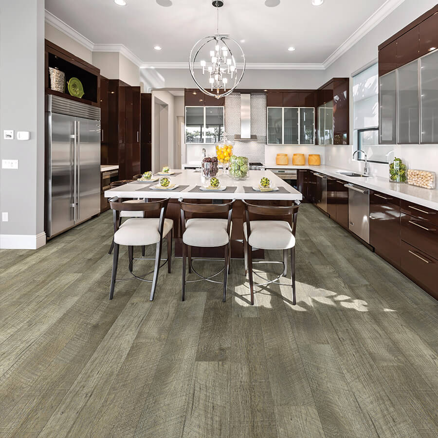 Product Courtier Vidame Hickory Kitchen Installation by Hallmark Floors