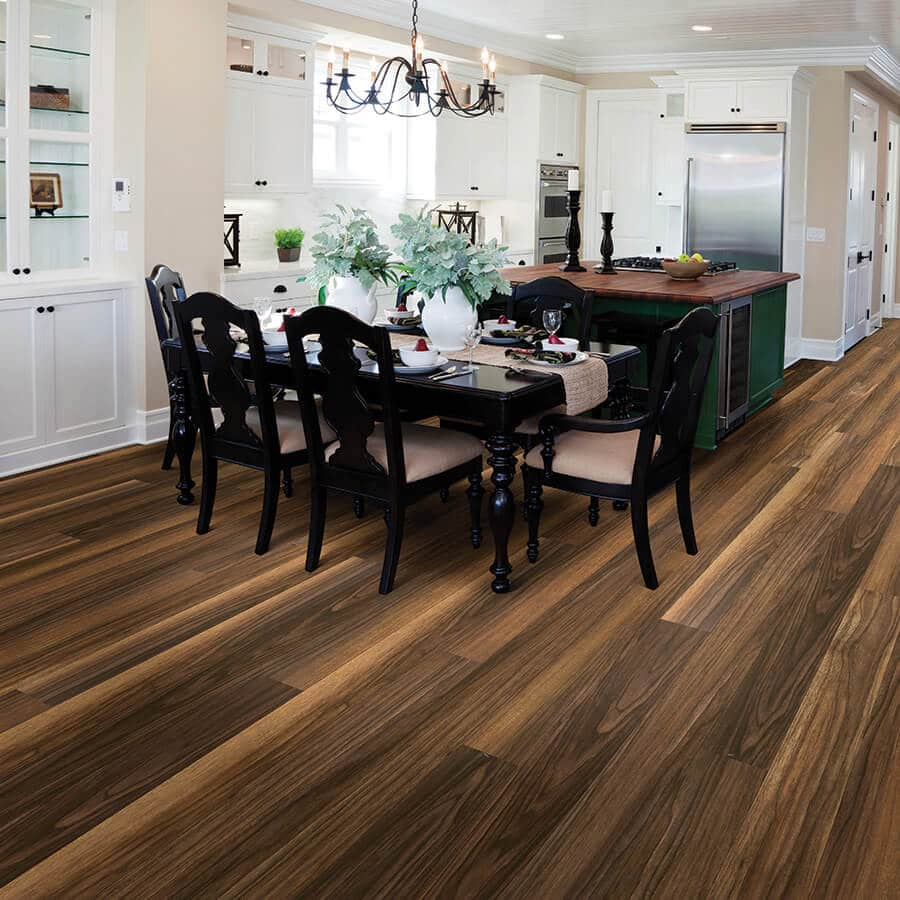 Product Courtier Viscount Walnut Dining Room Installation by Hallmark Floors