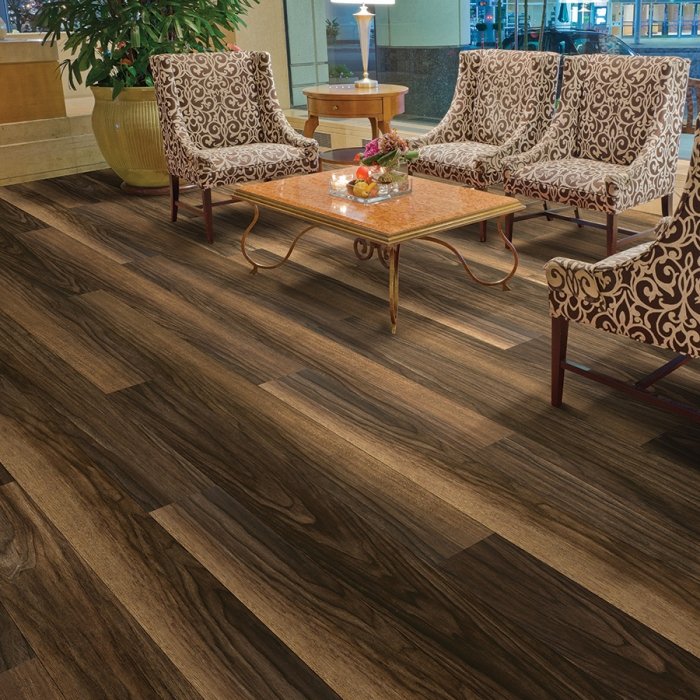 Product Courtier Viscount Walnut Commercially Rated Flooring by Hallmark Floors