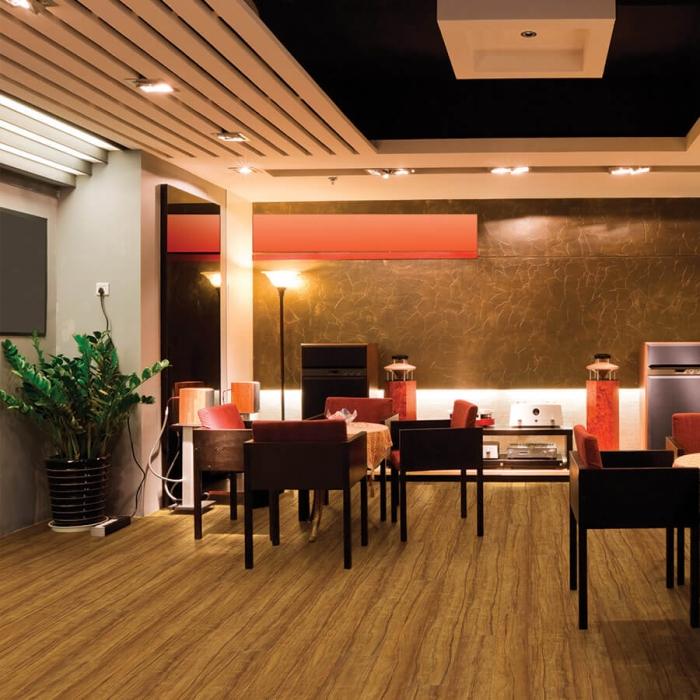 20mil waterproof flooring Valencia Teak Commercial