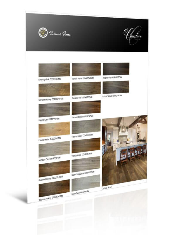 Courtier Premium Vinyl Plank Flooring Information Tearsheet