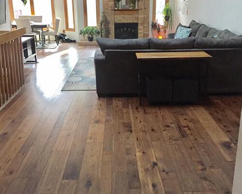 Monterey Puebla living room installation Affordable Floors