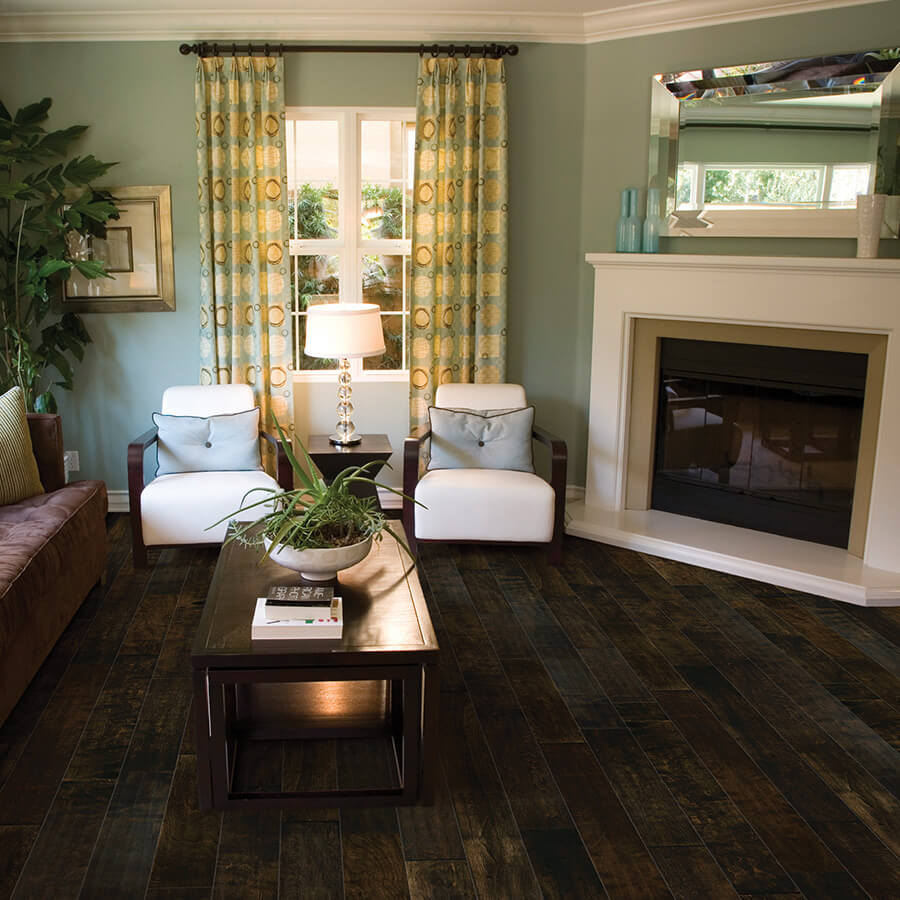 Silverado Dark Chocolate Birch Roomscene - Silverado Hardwood Floors By Hallmark Hardwoods