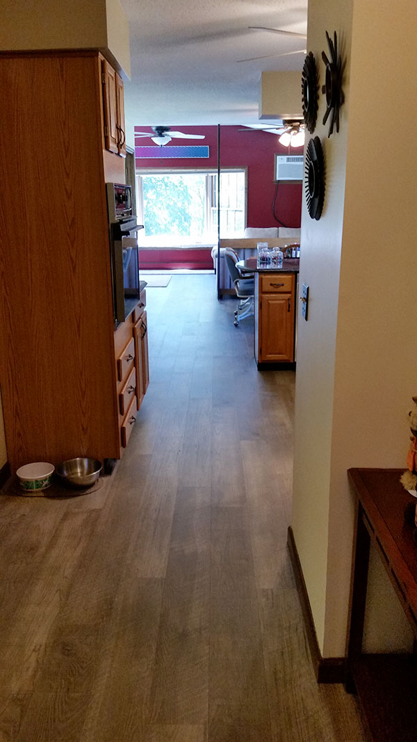 Courtier Vidame Hickory installation by Adams Family Floors with Review and Testimonial
