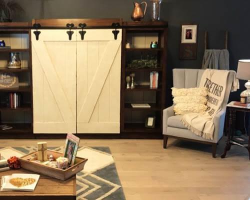 Novella Hawthorne Oak Living Room Installation